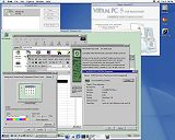 Click for a larger image - Virtual PC on MacOSX