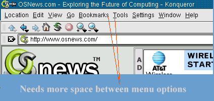 Menus need more spacing on KDE applications