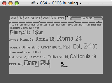 geoWrite's fonts