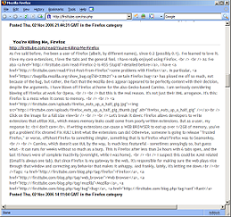 A padded RSS feed in Firefox 2