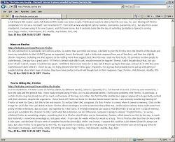 An RSS feed in IE7