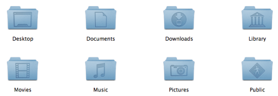 Leopard's special folder icons.