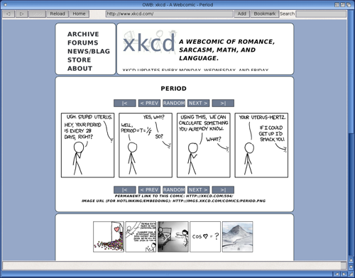 OWB showing xkcd.com.