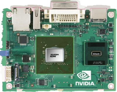NVIDIA's Ion pico-ITX sample board.