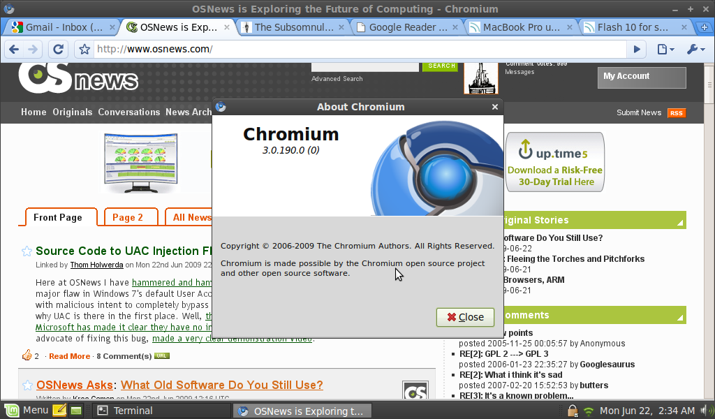 Google's Chromium on Linux Mint 7