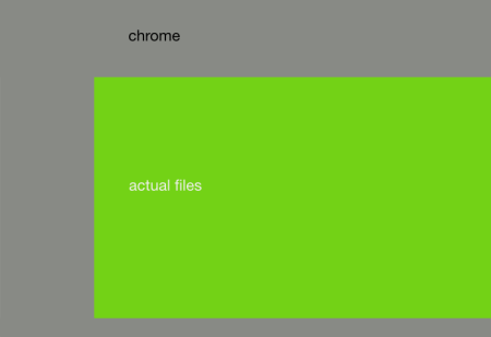 The Chrome/content ratio in Nautilus-current.