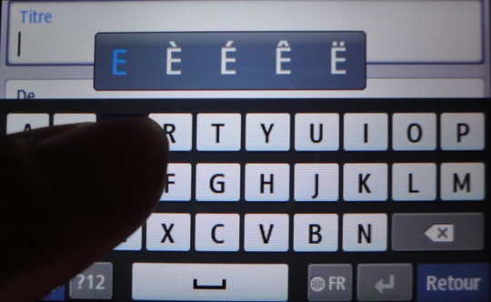 Virtual keyboard, diacritical marks