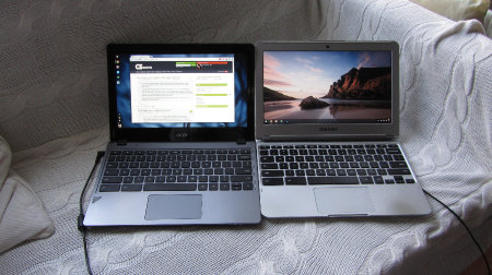 Acer and Samsung chromebooks