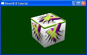 A Direct3D application running in GL mode with the help of the wrapper