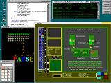 CodeView, Terminal, Launcher, Calculator, XGalaga, LinCity game