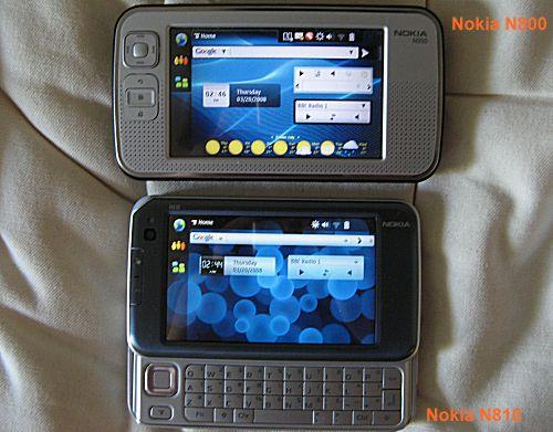 N800 vs N810